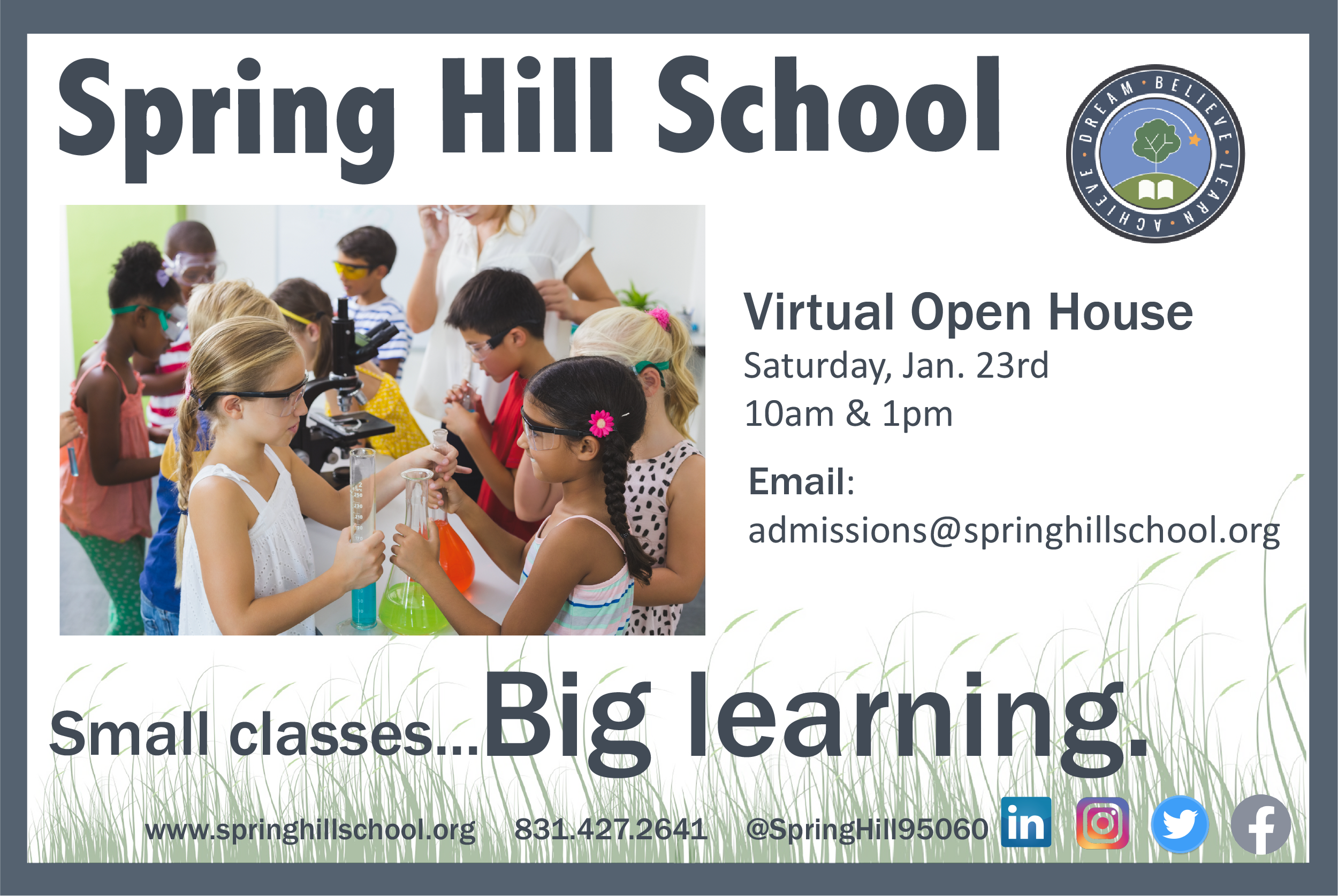 Spring Hill SChool Virtual Open House